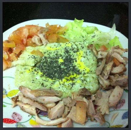 omelete com chia