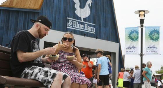 blue barn Minnesota State Fair